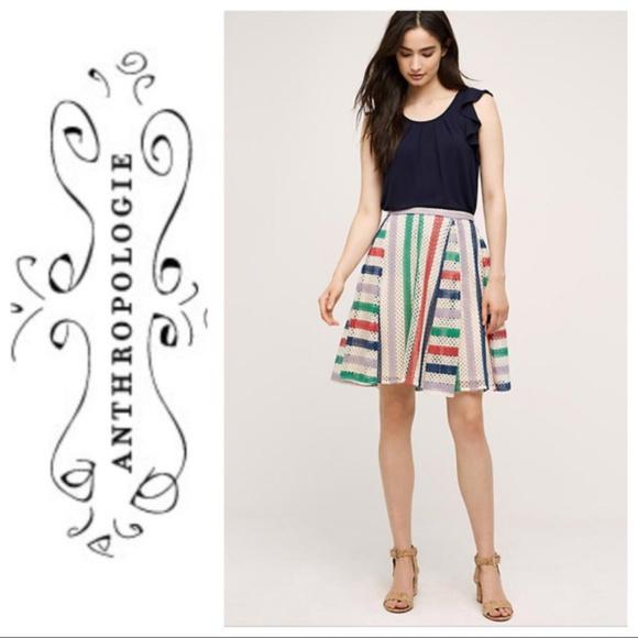 Anthropologie Dresses & Skirts - Anthropologie | Eva Franco Striped Crochet Skirt
